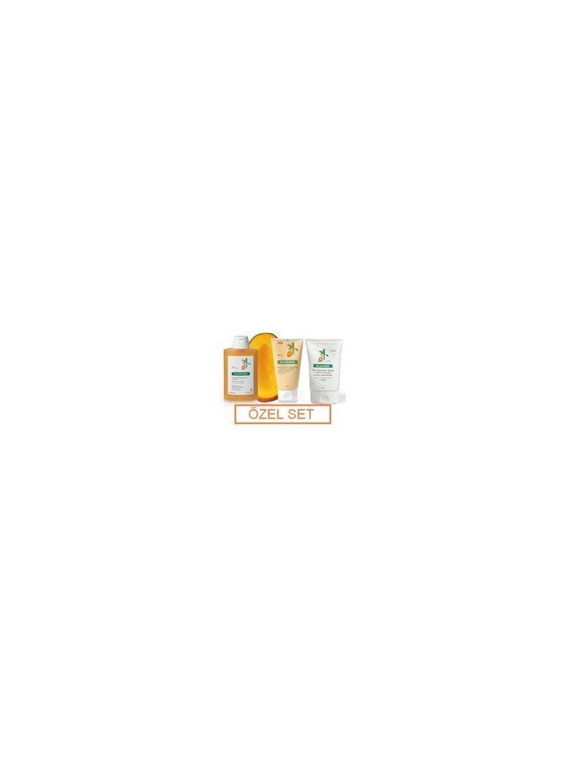 Klorane Mango Özel Set ( Şampuan, Krem ve Durulanmayan Bakım )