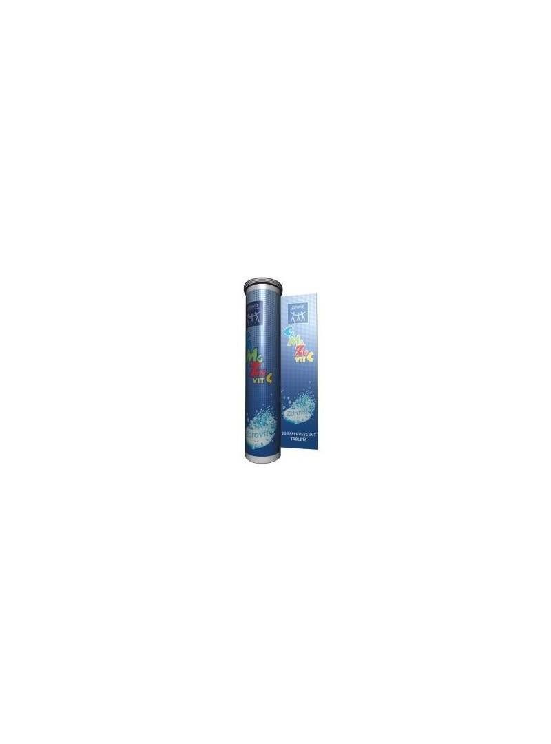 Zdrovit Ca+Mg+Zn+Vit C 20 Efervesan Tablet