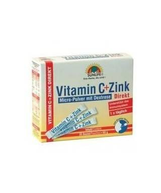 Sunlife Vitamin C + Zink Direkt 20 Poşet
