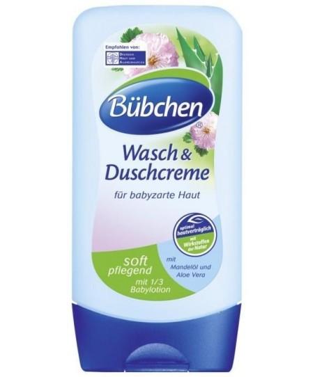Bübchen Bebek Duş Kremi (13 oranında Nemlendirici Süt içerikli vücut yıkama) 230ml