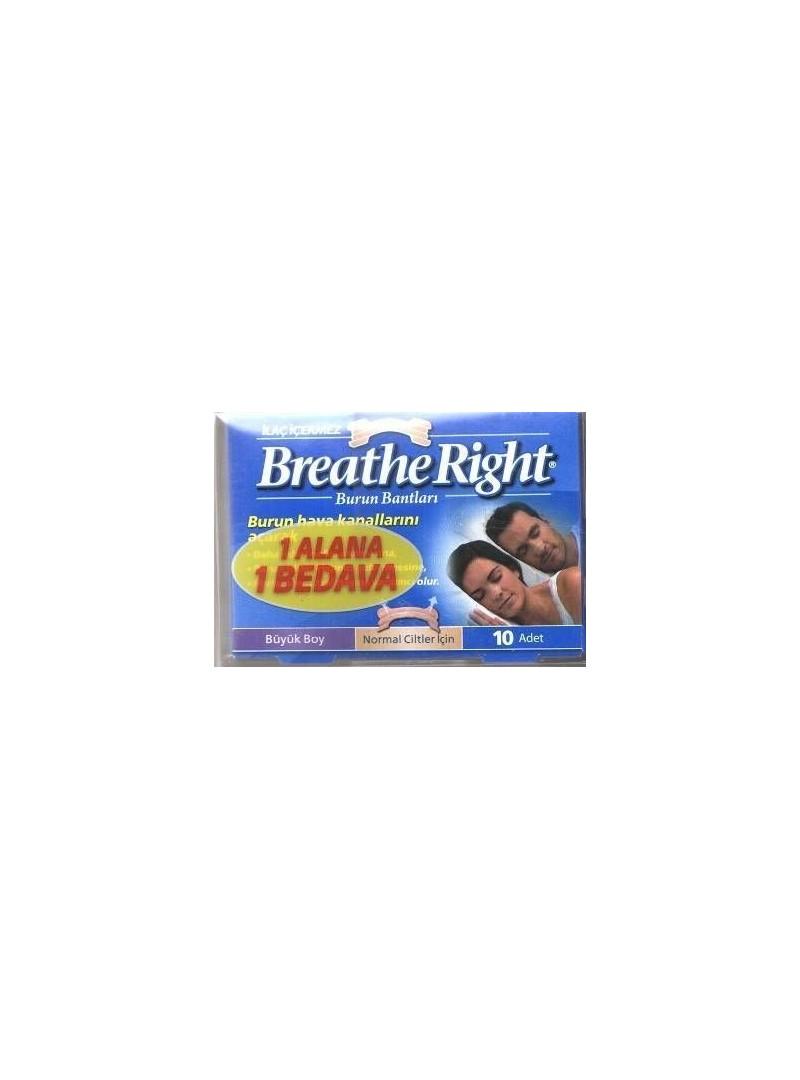 Breathe Right Burun Bandı Klasik 1 Alana 1 Bedava Büyük Boy
