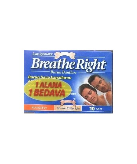 Breathe Right Burun Bandı Klasik 1 Alana 1 Bedava Normal Boy