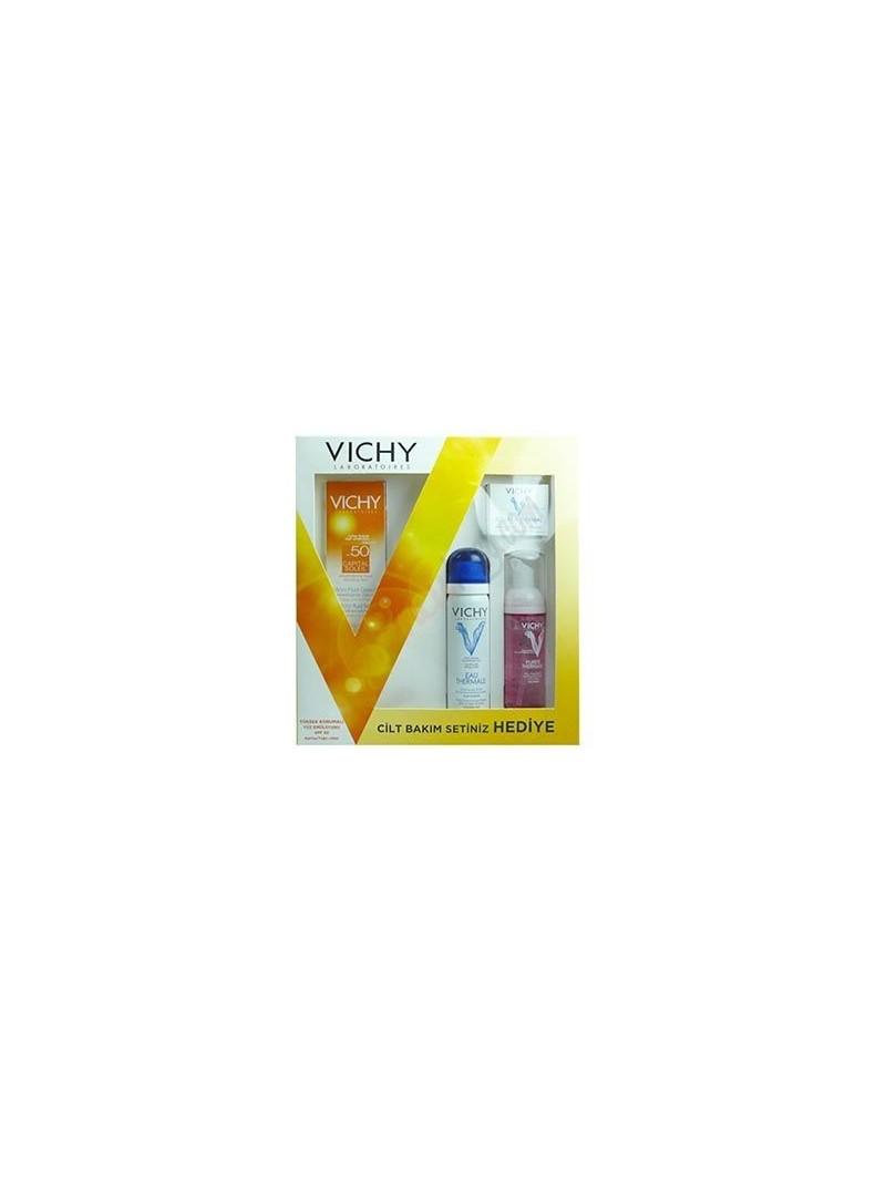 Vichy Capital Soleil SPF 50 Yüz Emülsiyonu Hediye Cilt Bakımı Seti
