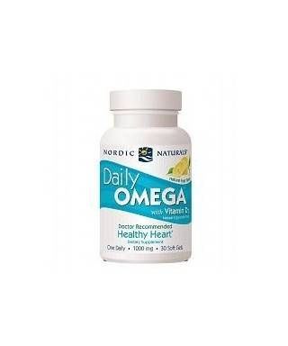 Nordic Naturals Daily Omega+Vitamin D3 30 Soft Gel