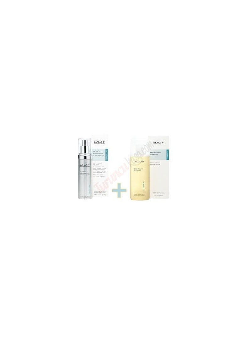 DDF Protect And Correct SPF15 48 gr - DDF Brightening Cleanser 177ml Hediye