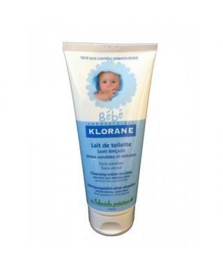 Klorane Bebe Bebekler için Durulanmayan Temizleme Sütü 200 ml