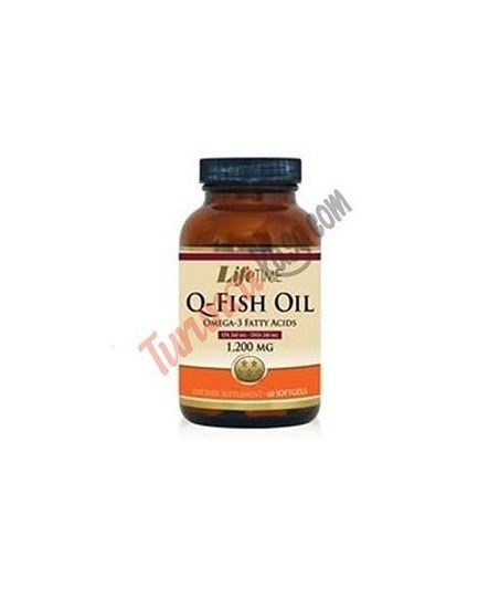 Lifetime Q-Fish Oil 1200 mg 60 Softgels