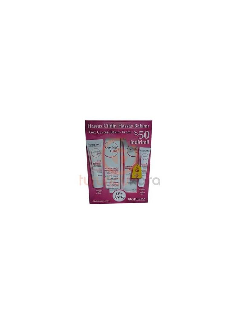 Bioderma Sensibio Light Cream - Sensibio Eye Contour Gel Hassas Cildin Hassas Bakımı Seti