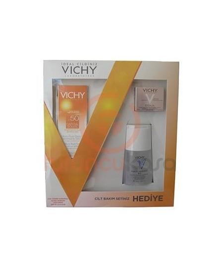 Vichy Capital Soleil Spf 50+ Ultra Akışkan Yüz Kremi Cilt Bakım Seti Hediyeli
