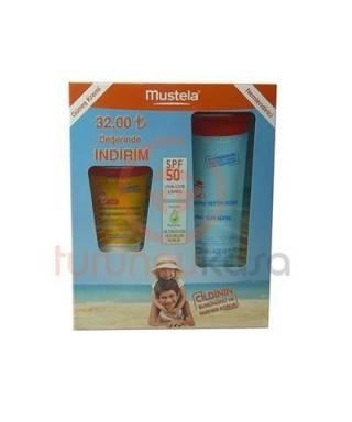 Mustela Protective Face Cream Lotion SPF 50+ 40 ml+After Sun Spray 125 ml