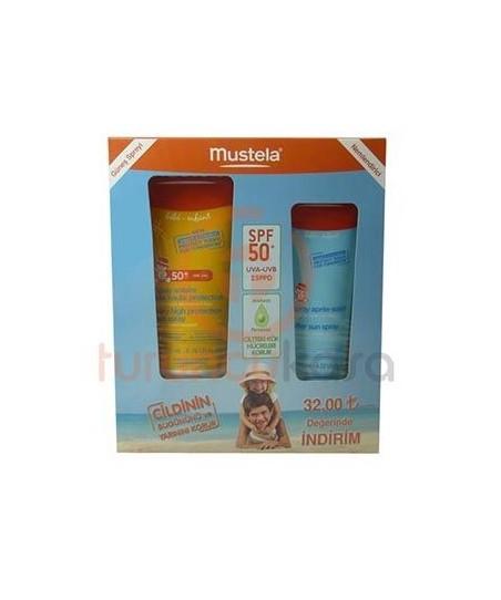 Mustela Protective Spray SPF 50+ 200 ml + After Sun Spray 125 ml