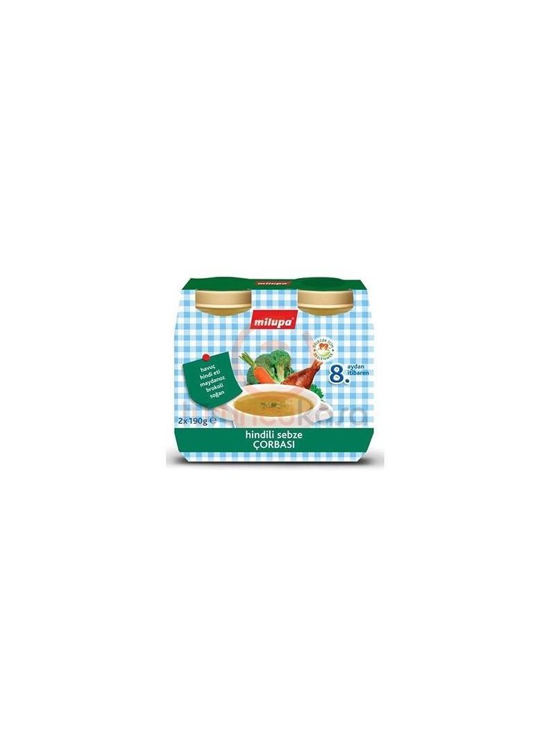 Milupa Hindili Sebze Çorbası 2 X 190 Gr
