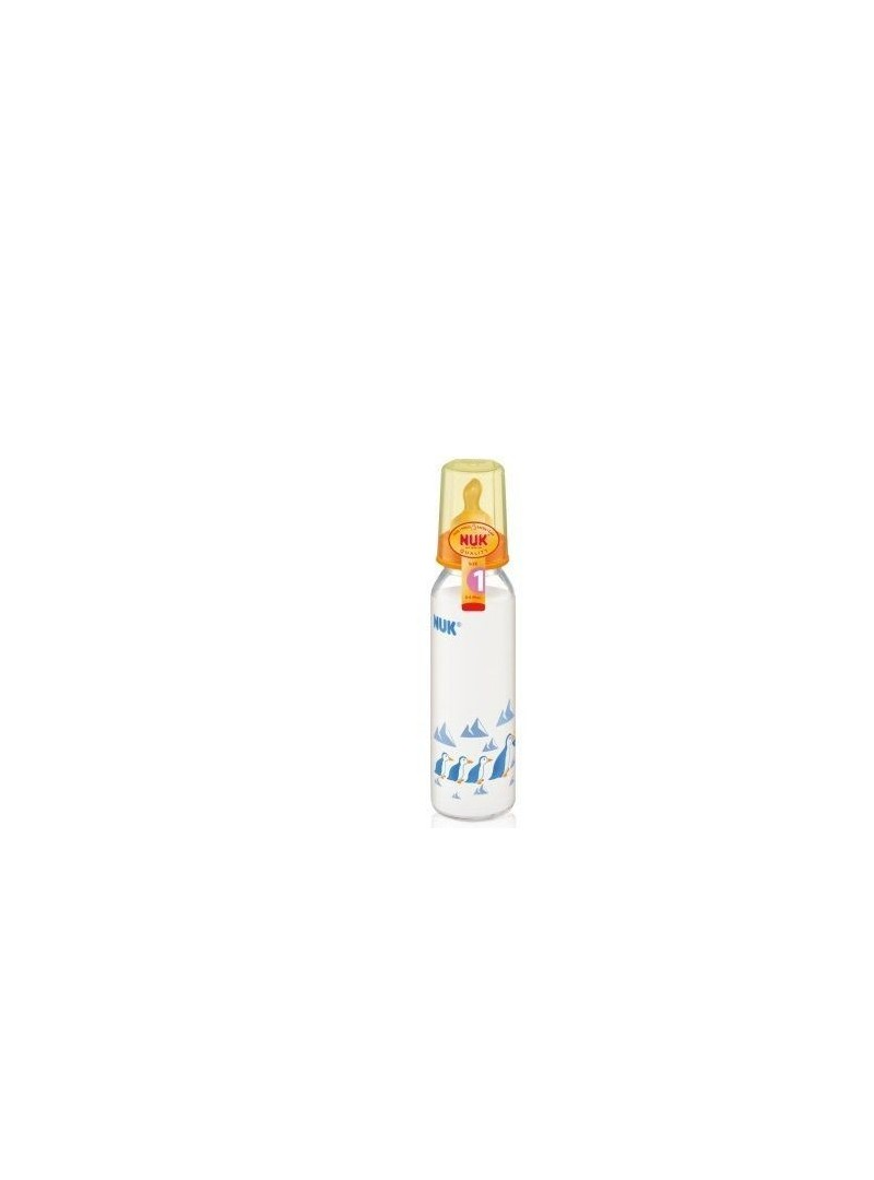 NUK Standart Kauçuk Emzikli Cam Biberon (250 ml)