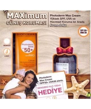 Bioderma Photoderm MAX Cream SPF50+  Alana Bioderma Sensibio H2O 100 ml Hediye