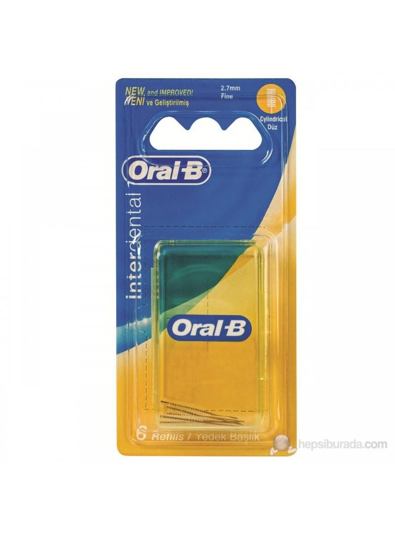 Oral B Arayüz Fırça Başı Yedeği (Düz)