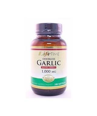LifeTime Odorless Garlic 100 Softjel Life Time Garlik oil