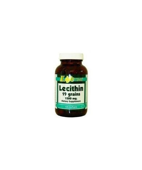 LifeTime Lecithin 19 grains 1200 mg 100 Softgels