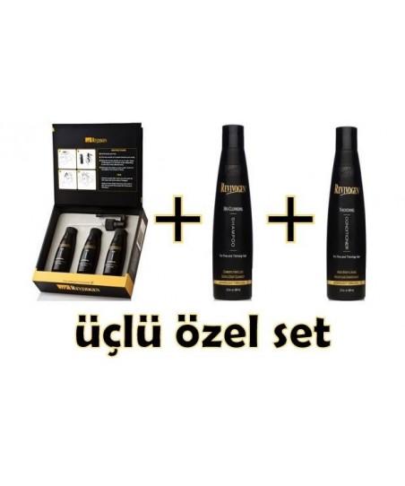 Revivogen Forte Saç Bakım Losyonu 3x60 ml(3 Aylık Paket) - Revivogen Forte Saç Kremi ve Forte Şampuan