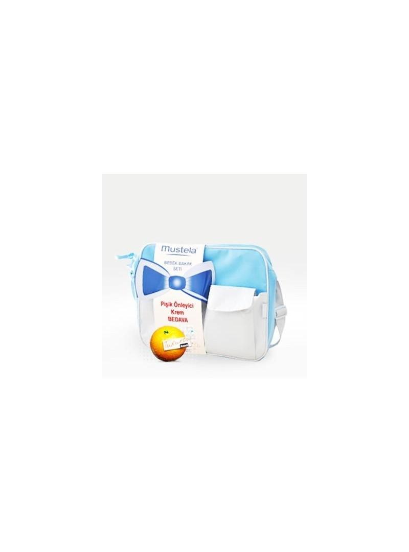 Mustela Bebek Bakım Seti Çanta ve Alt Değiştirme Pedi HEDiYE
