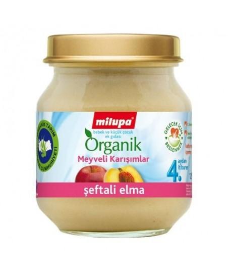 Milupa Organik Şeftali Elma Kavanoz 125 gr