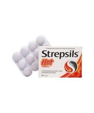 Strepsils Hot Pastil 24 Lozenges