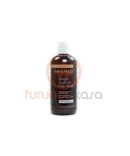 Hamadi Ginger Soymilk Hair Wash Daily Shampoo Zencefil Soya Sütü Günlük Saç Şampuanı 355 ml