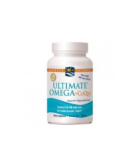 Nordic Naturals Ultimate Omega + CoQ10 60 Soft Gels