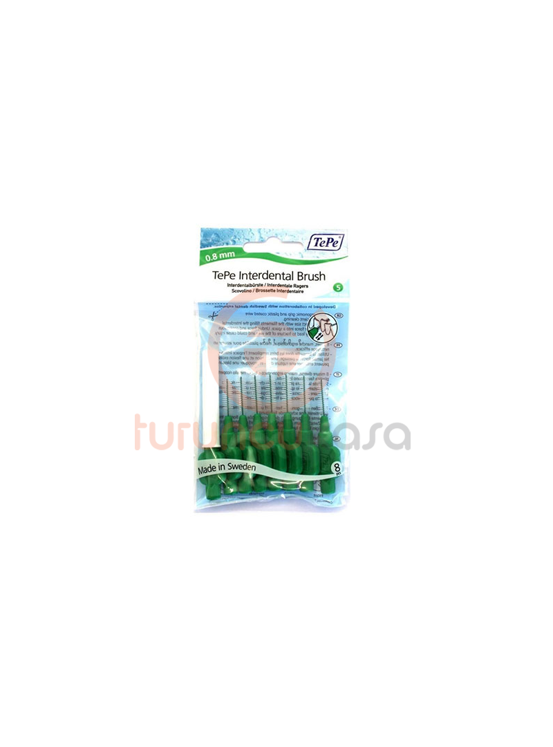 TePe İnterdental Brush 0.8 mm Iso Sıze 5 8 adet