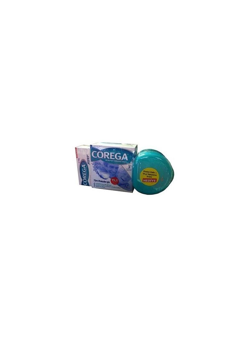 Corega Diş Protezi Temizleyici 32 Tablet Protez Kabı+10 gr Yapıştırıcı Krem HEDİYE!!!