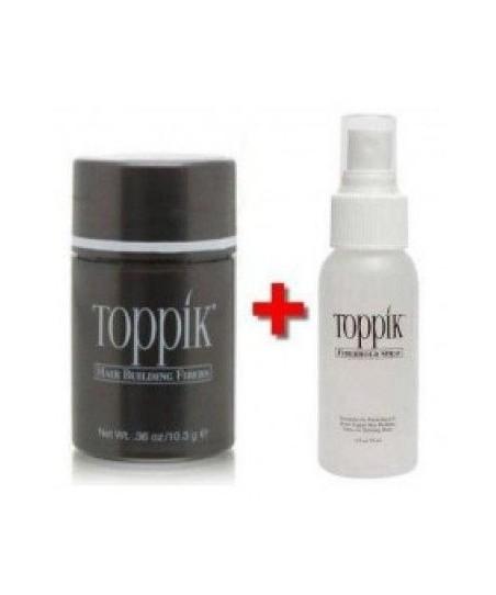 Toppik Saç Gürleştiri'ci 2´Lİ Set ( 10,3 gr Toz Bir Aylık Kullanım +Sprey )