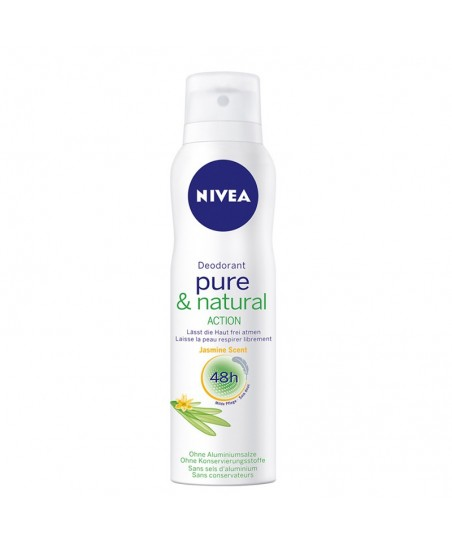 Nivea Pure & Naturel Action Pudrasız Deodorant 150 ml
