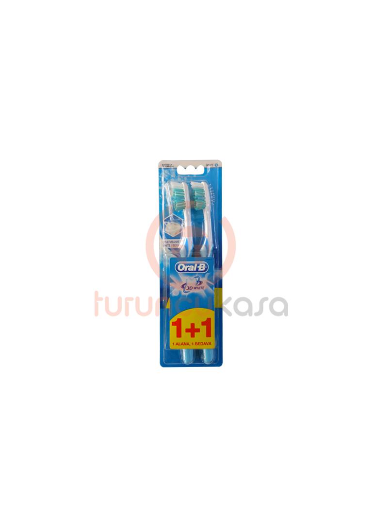 Oral B 3D White Soft Diş Fırçası 1 Alana 1 Bedava
