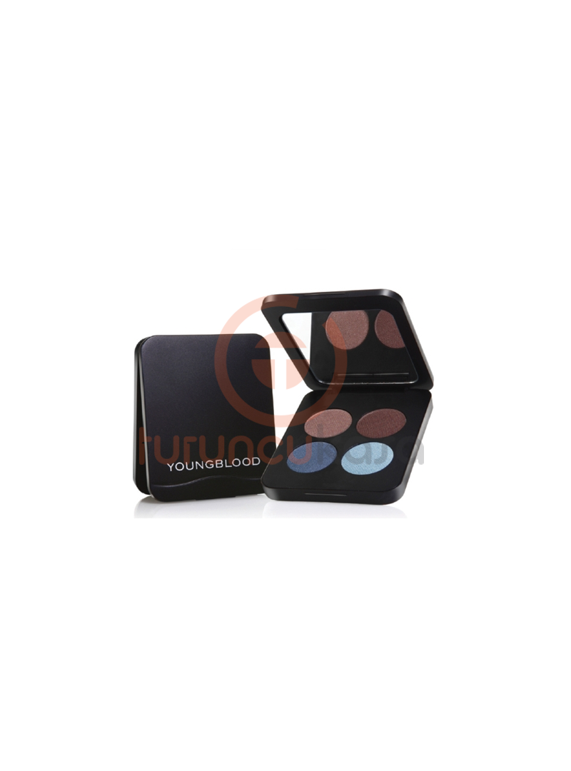 YoungBlood Pressed Mineral Eyeshadow Quad 4lü Far - Mavi Ve Kahve Tonlar