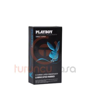 Playboy Ribbed (Doruk) Kremli 12'li Prezervatif