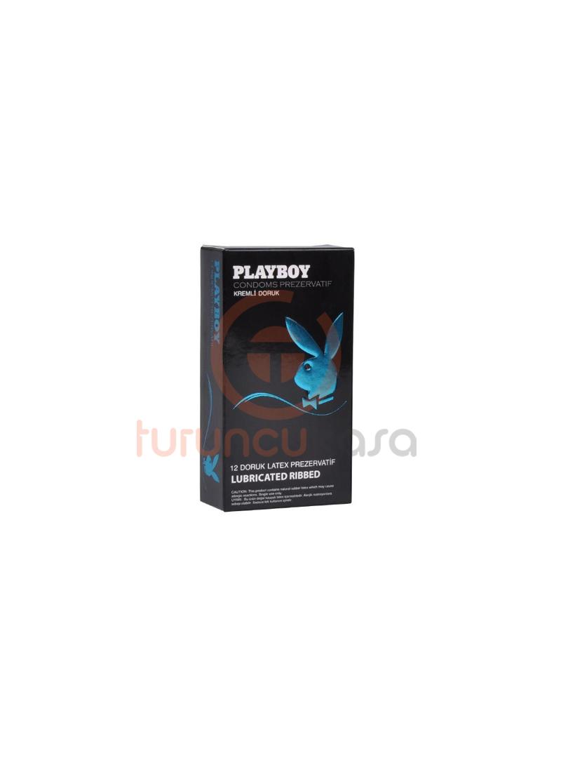 Playboy Ribbed (Doruk) Tırtıklı Yüzeyli Kremli 12'li Prezervatif