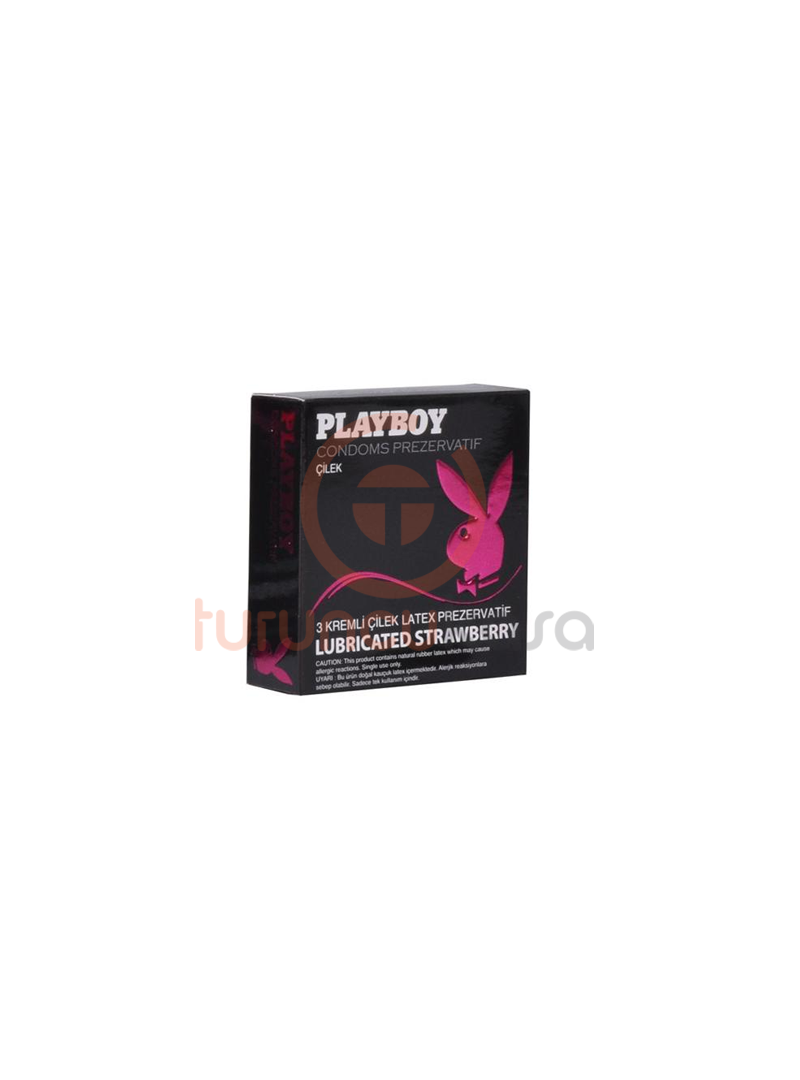 Playboy Strawberry Çilekli Kremli 3'lü Prezervatif
