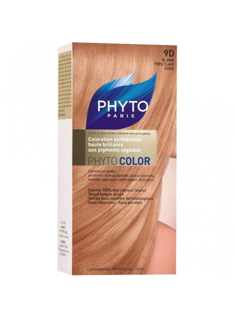 Phyto Color Saç Boyası 9D Açık Sarı Dore (Blond Tres Clair Dore)