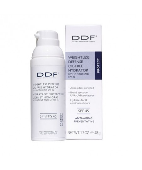 DDF Weightless Defense Oil Free Hydrator UV Moisturizer SPF 45 48g