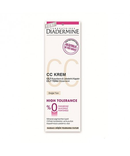 Diadermine High Tolerance Cc Krem 50ml Doğal Ton