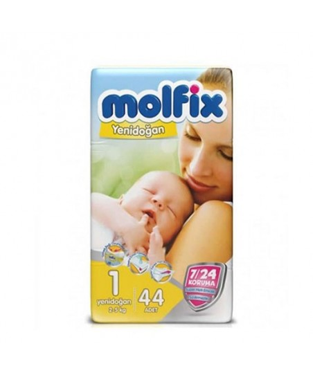 Molfix İkiz Paket 1 Numara (2-5 kg) 44 Adet