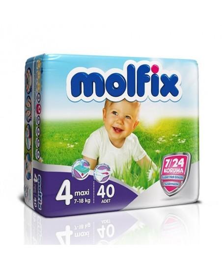 Molfix İkiz Paket 4 Numara  (7 - 18 kg) 40 Adet