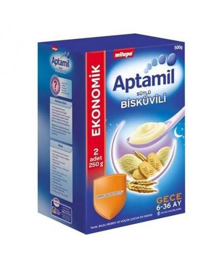 Milupa Aptamil Sütlü Bisküvili Kaşık Maması 500 gr.