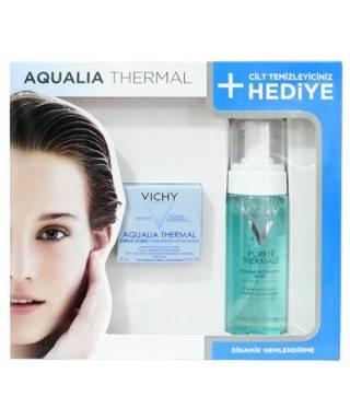 Vichy Aqualia Thermal Creme Legere Normal ve Karma Ciltler için Kofre - Purete Thermale Temizleyici Köpük 150ml Hediye