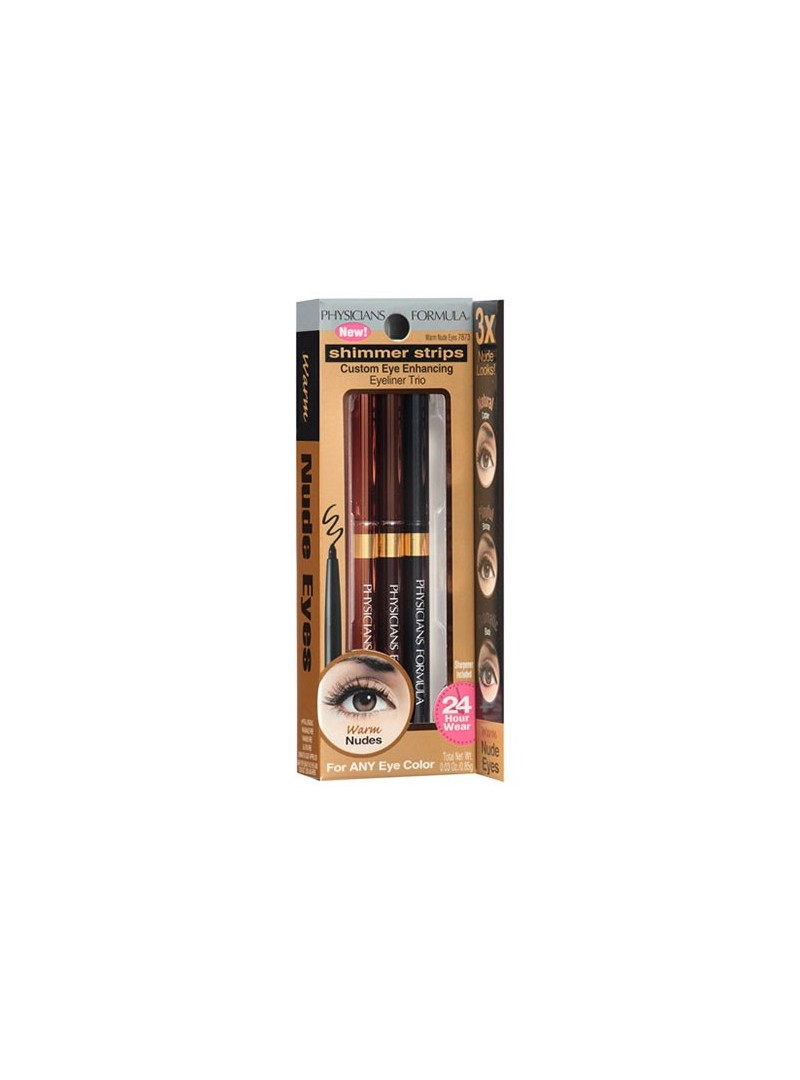 Physicians Formula Shimmer Strips Custom Eye Enhancing Eyeliner Trio(Warm Nude Eyes)