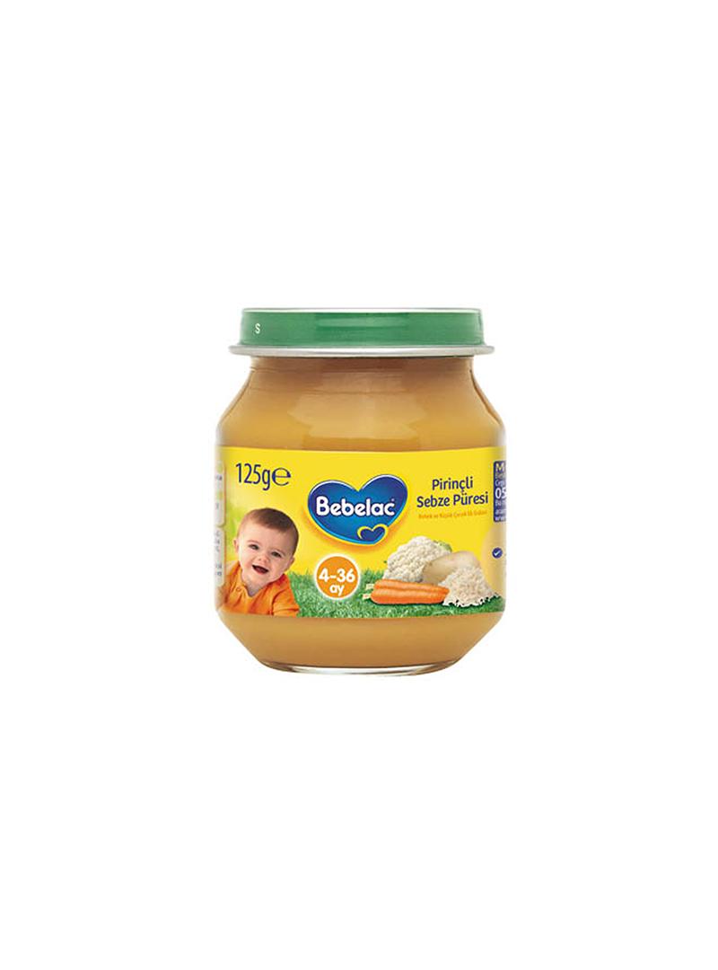 Bebelac Kavanoz Maması Pirinçli Sebze Püresi 125gr
