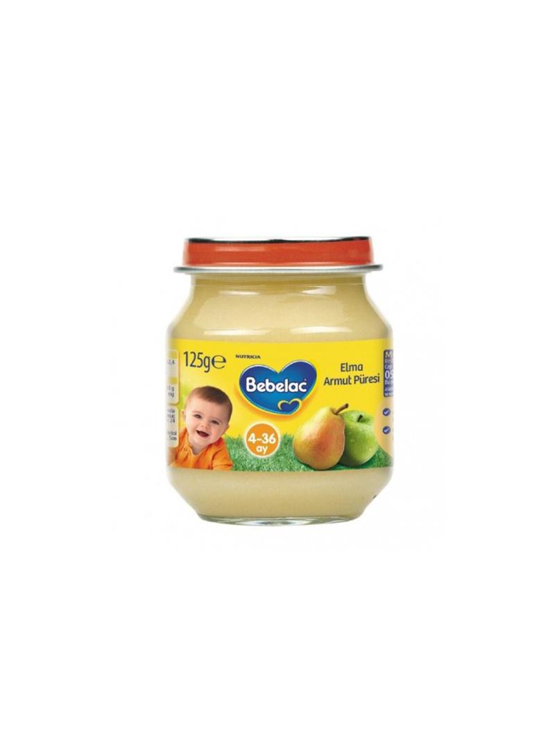 Bebelac Kavanoz Maması Elma Armut Püresi 125gr