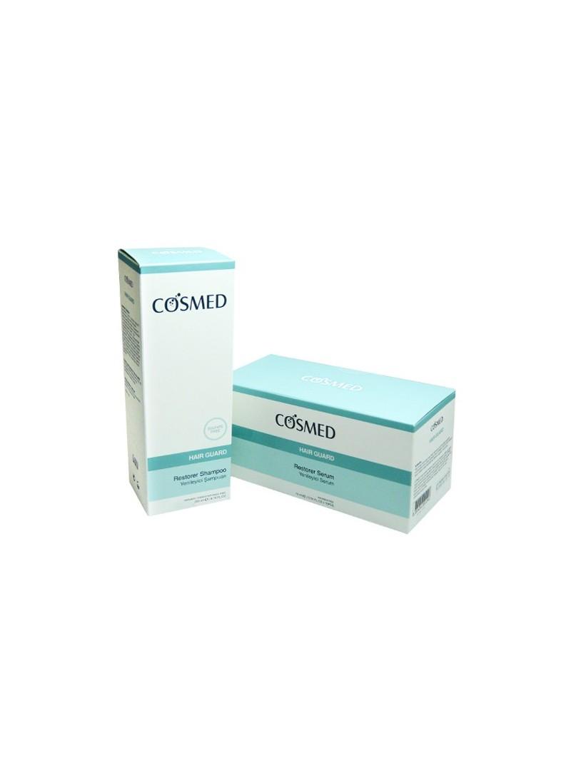 Cosmed Yenilemeye Yardımcı Serum 10ml X 10 Adet Cosmed Yenileyici Şampuan 2 Li Paket