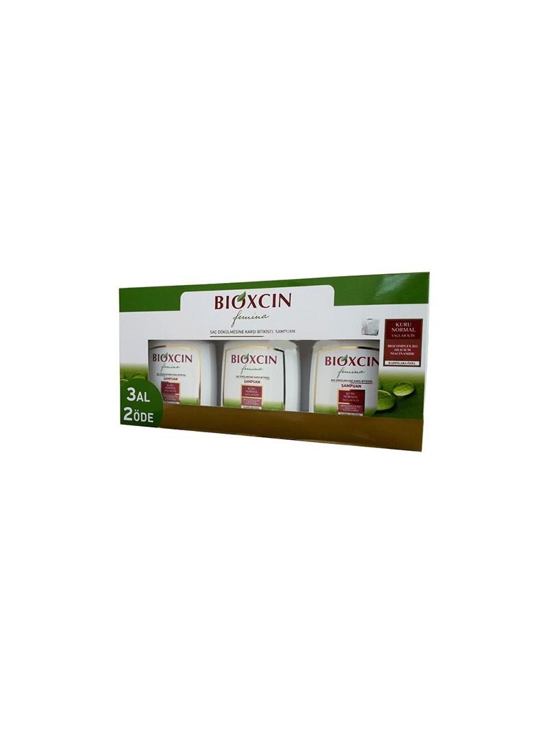 Bioxcin Femina 3 Al 2 Öde Kuru ve Normal Saçlar için Şampuan 300 ml