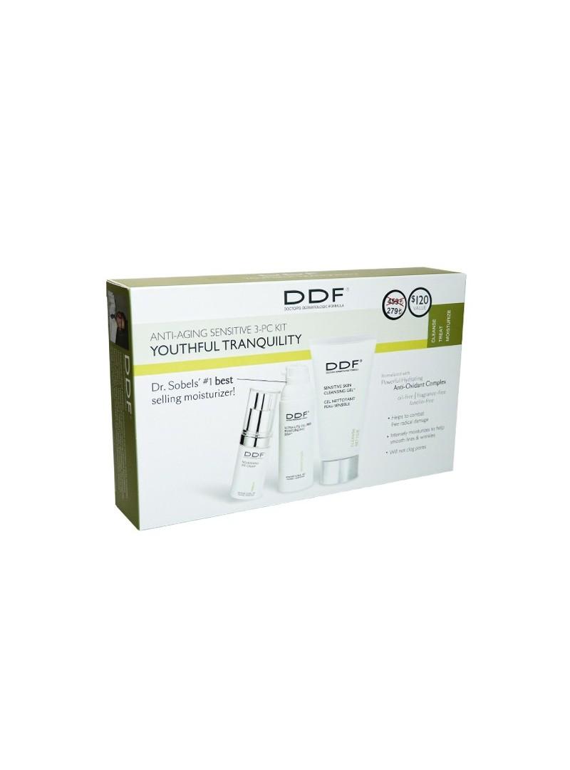 DDF Anti-Aging Sensitive 3-PC Kit Youthful Tranquility