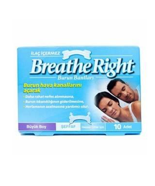 Breathe Right Burun Bandı Şeffaf Büyük Boy